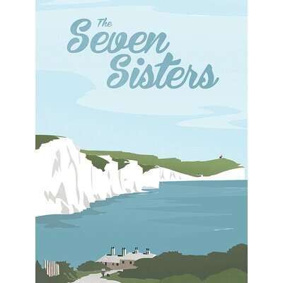Art Group The Seven Sisters by Adam McNaught Davis Vintage Advertisement Canvas Wall Art