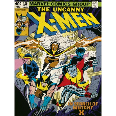 Art Group X-Men Mutant - X Vintage Advertisement Canvas Wall Art