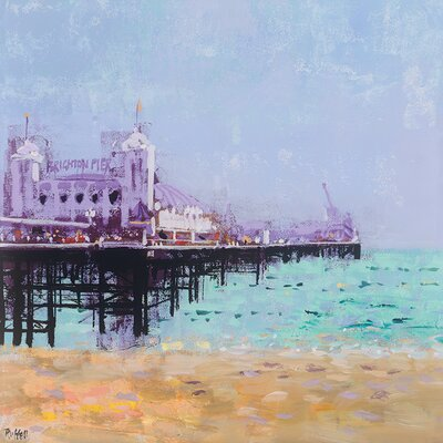 Art Group Brighton Pier by Colin Ruffell Canvas Wall Art
