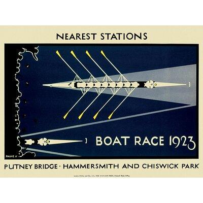Art Group Transport for London - Boat Race 1923 Vintage Advertisement on Canvas