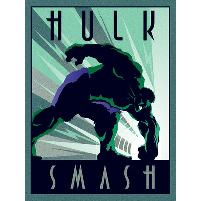 Art Group Marvel Deco Hulk Vintage Advertisement Canvas Wall Art