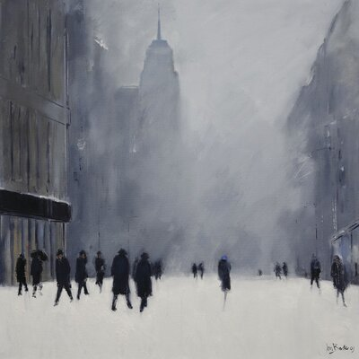 Art Group White Out - 5th Avenue by Jon Barker Canvas Wall Art