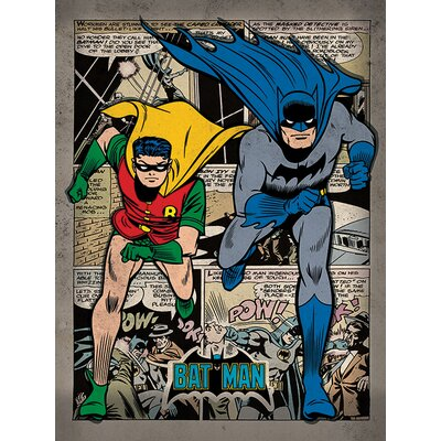 Art Group Batman, Comic Montage Poster Vintage Advertisement Canvas Wall Art
