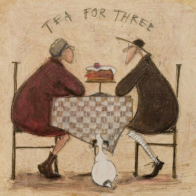 Art Group Tea for Three 2 by Sam Toft Canvas Wall Art