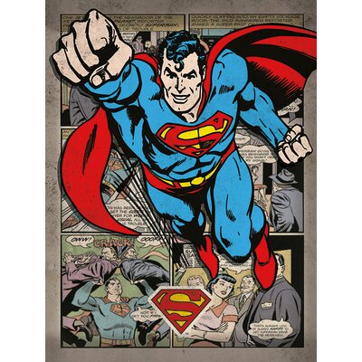 Art Group Superman Comic Montage Canvas Wall Art