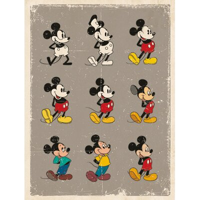 Art Group Mickey Mouse, Evolution Vintage Advertisement Canvas Wall Art
