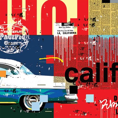 Art Group Cali Car by Mark Andrew Allen Canvas Wall Art