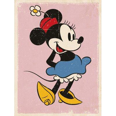 Art Group Minnie Mouse Retro Canvas Wall Art