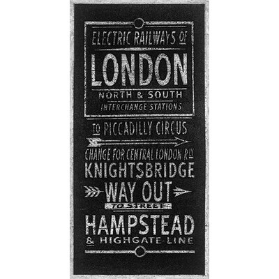 Art Group Electric Railways of London by Barry Goodman Typography Canvas Wall Art