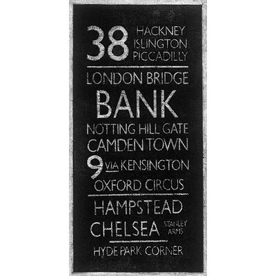Art Group London Destinations by Barry Goodman Typography Canvas Wall Art