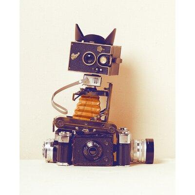Art Group Robot Cat by Ian Winstanley Canvas Wall Art