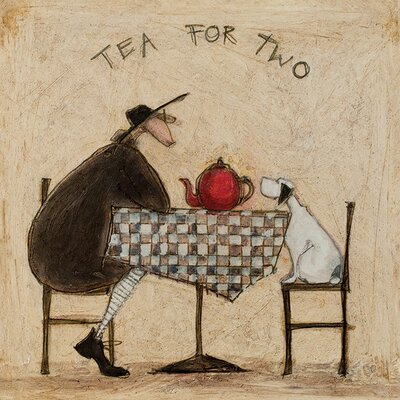Art Group Tea for Two by Sam Toft Canvas Wall Art