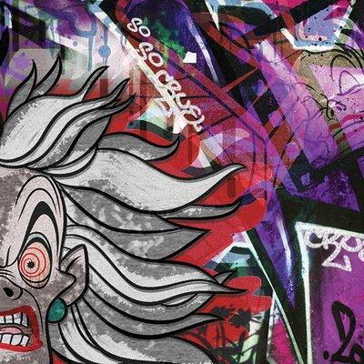 Art Group Cruella Deville Graffiti Canvas Wall Art