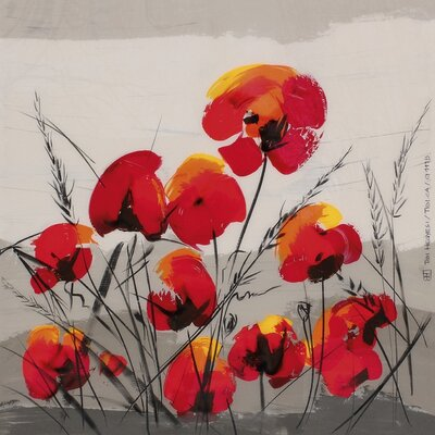 Art Group Multiple Poppies by Tibi Hegyesi Canvas Wall Art
