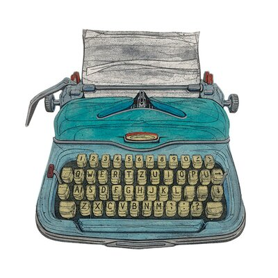 Art Group Typewriter by Barry Goodman Canvas Wall Art