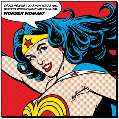 Art Group Wonder Woman Quote Canvas Wall Art