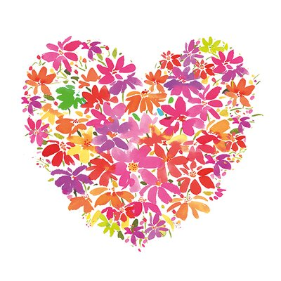 Art Group Floral Heart by Summer Thornton Art Print on Canvas