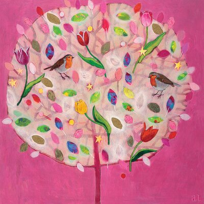 Art Group Happy Tree by Andrea Letterie Canvas Wall Art