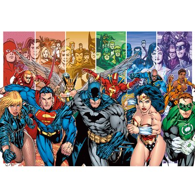 """Art Group Justice League America """"Generations"""" Poster Canvas Wall Art"""