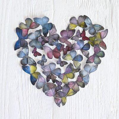 Art Group Butterfly Heart by Howard Shooter Canvas Wall Art