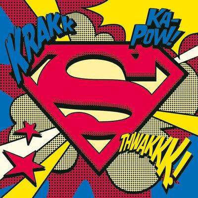 Art Group Superman Pop Art Shield Canvas Wall Art