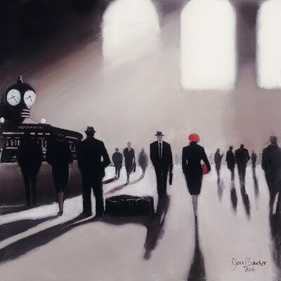 Art Group Grand Central Station Rendezvous - New York by Jon Barker Canvas Wall Art