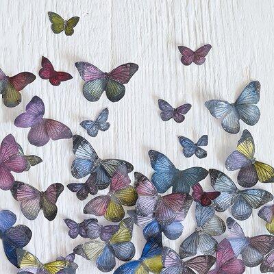 Art Group Butterfly Random by Howard Shooter Canvas Wall Art