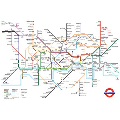 Art Group Transport For London - Underground Map Graphic Art on Canvas