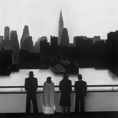 Art Group Skyline by David Cowden Art Print on Canvas