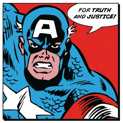 Art Group Captain America For Truth and Justice Canvas Wall Art