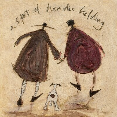 Art Group A Spot of Handie Holding by Sam Toft Canvas Wall Art