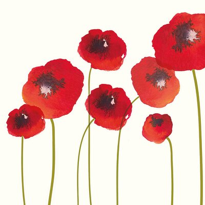 Art Group Poppies by Nicola Evans Canvas Wall Art