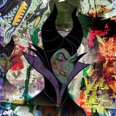 Art Group Maleficent, Graffiti Vintage Advertisement Canvas Wall Art