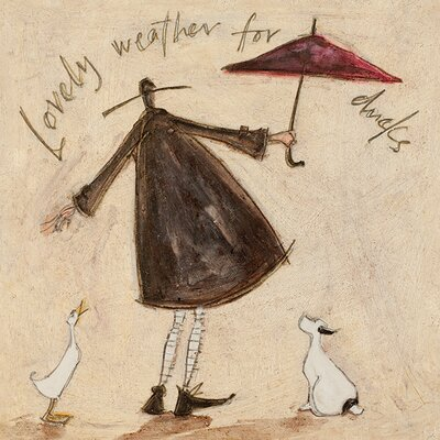 Art Group Lovely Weather For Ducks by Sam Toft Canvas Wall Art