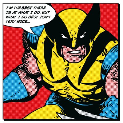 Art Group Wolverine - I'm the Best Canvas Wall Art