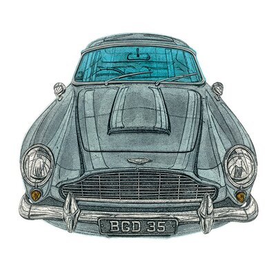 Art Group Aston Martin by Barry Goodman Canvas Wall Art