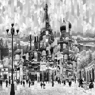 Art Group Impression Russe by Serge Mendjisky Canvas Wall Art