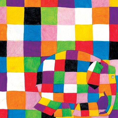 Art Group Elmer Squares by David McKee Art Print on Canvas