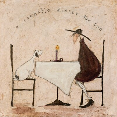 Art Group A Romantic Dinner for Two by Sam Toft Canvas Wall Art
