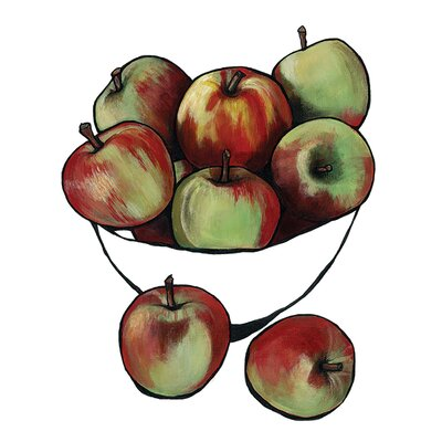 Art Group Bowl of Apples by Lucy Routh Canvas Wall Art