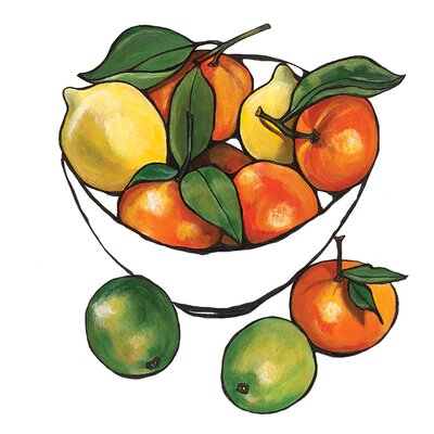 Art Group Oranges and Lemons by Lucy Routh Canvas Wall Art