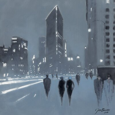 Art Group The Flatiron Building, New York by Jon Barker Art Print on Canvas