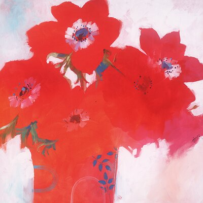 Art Group Anemone Red by Carolyn Carter Canvas Wall Art