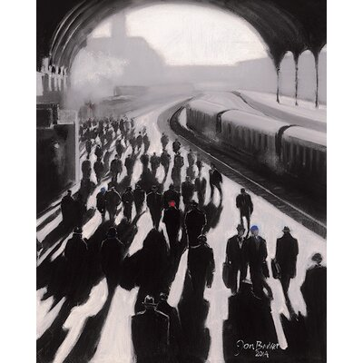 Art Group Victoria Station, London  - 1934 by Jon Barker Canvas Wall Art