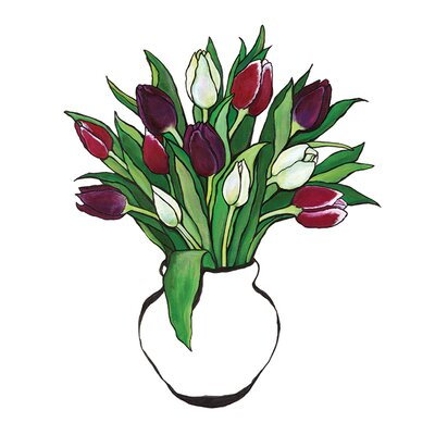 Art Group Tulips by Lucy Routh Canvas Wall Art