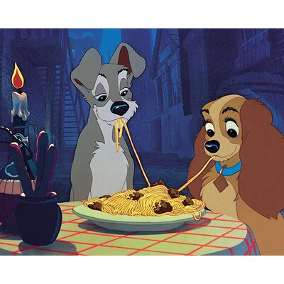 Art Group Lady and the Tramp Vintage Advertisement on Canvas