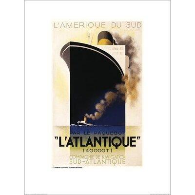 Art Group L'Atlantique by A.M.Cassandre Vintage Advertisement