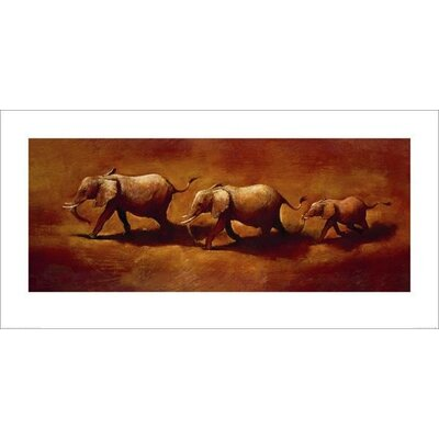Art Group Three African Elephants by Jonathan Sanders Art Print