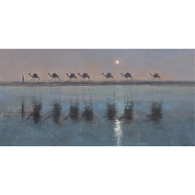 Art Group Jade Sea Reflections by Jonathan Sanders Canvas Wall Art