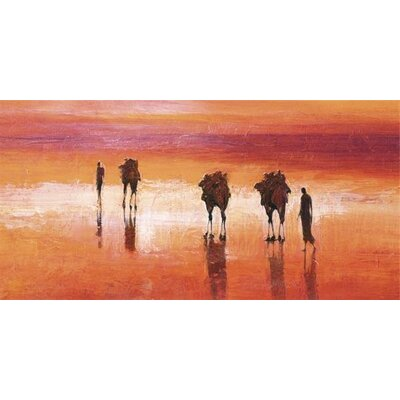 Art Group Camels, Chalbi Desert, Kenya by Jonathan Sanders Canvas Wall Art